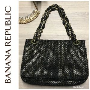 BR Gold & Black Link Chain Bag